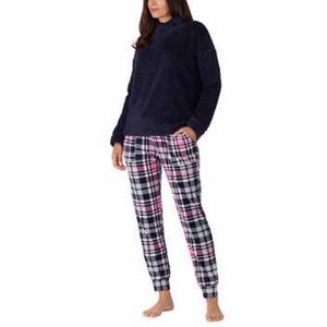 Jane And Bleecker Cozy Lounge Sleepwear Set Blue M